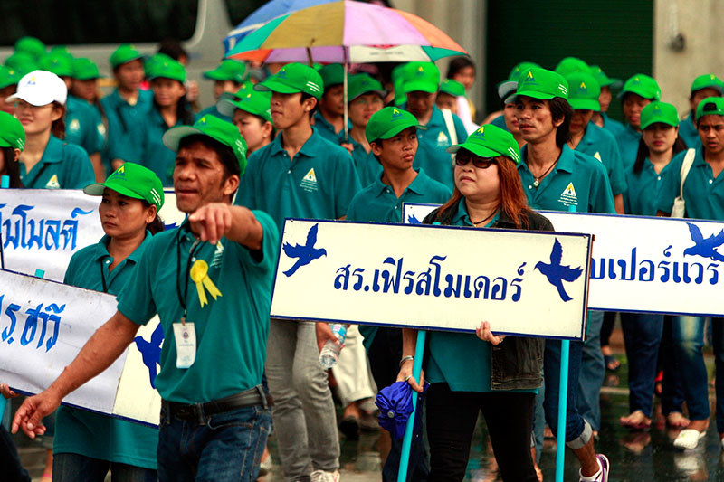 Thai workers calling the government's attention to increase the minimum wage -- Accounting Firm Phuket