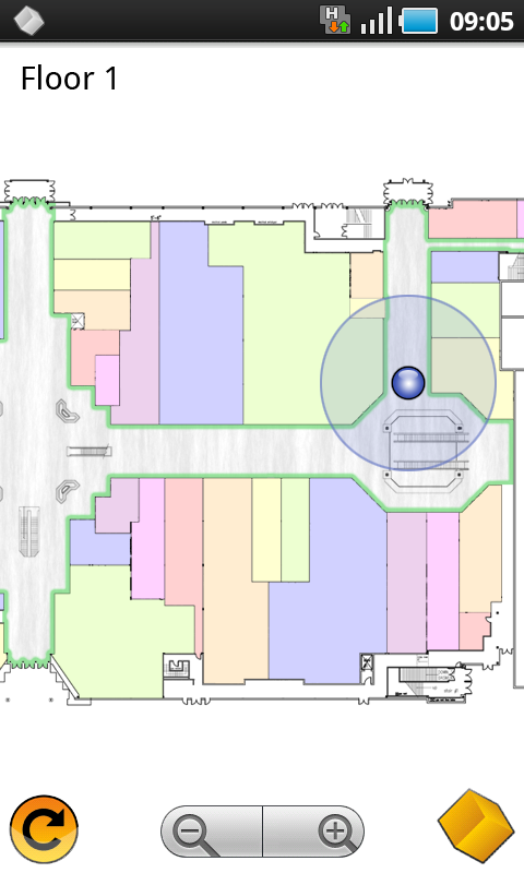 Indoor localisation with Qubulus