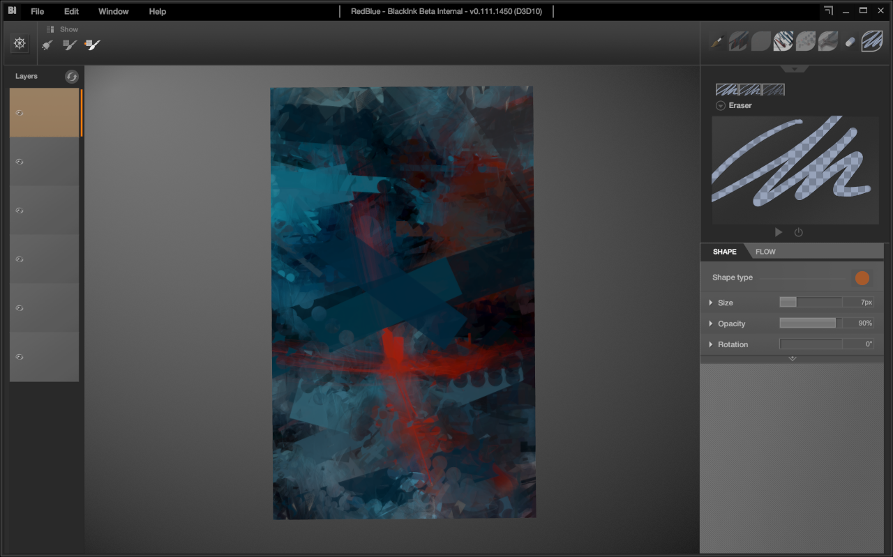 layers in action in BlackInk dev version