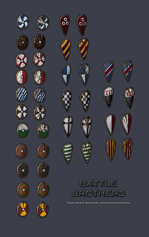Battle Brothers Shields