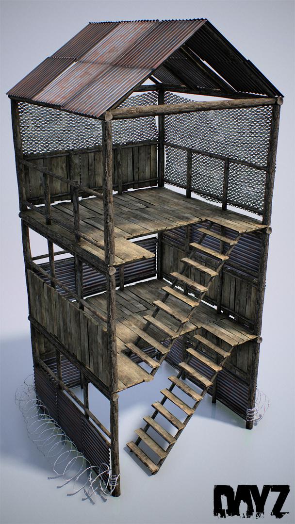 Detalle torre vigia base dayz