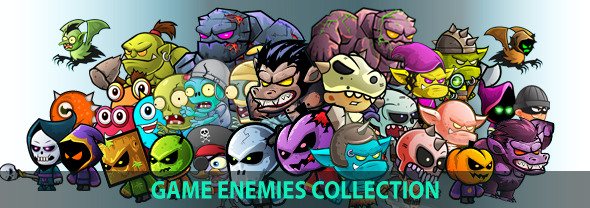 Yeti  Monsters 2D Game Chracter Sprites 270 (Sprites)