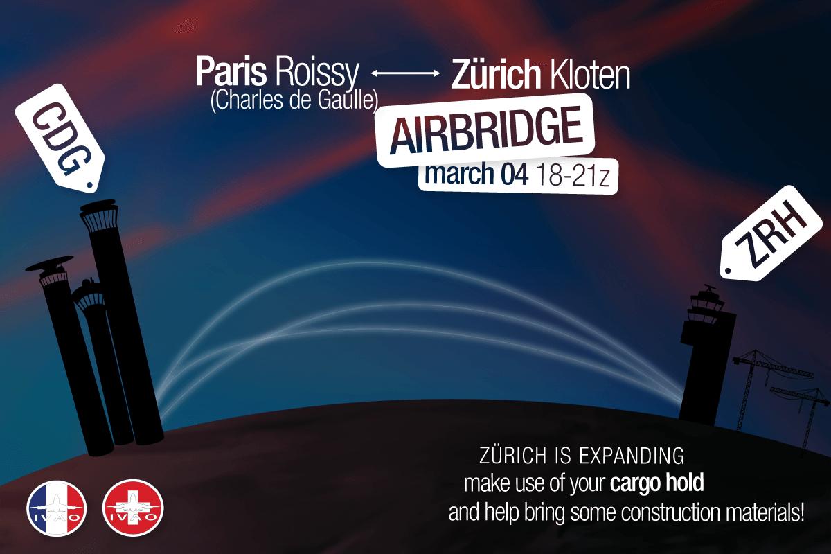 [FR+CH] Zurich - Paris Roissy Airbridge