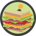 Country Club Icon - Club Sandwich