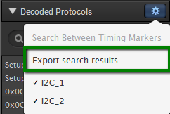 Export search results