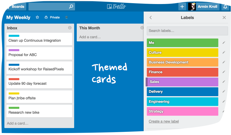 Themed Cards in Trello