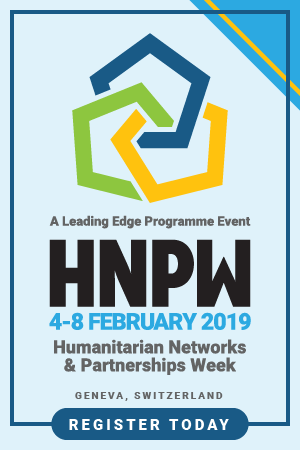 Humanitarian Networks and Partnerships Week 4-8 February 2019