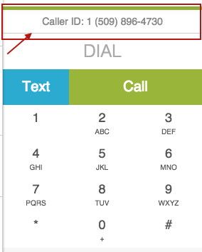 Caller ID in Dialer