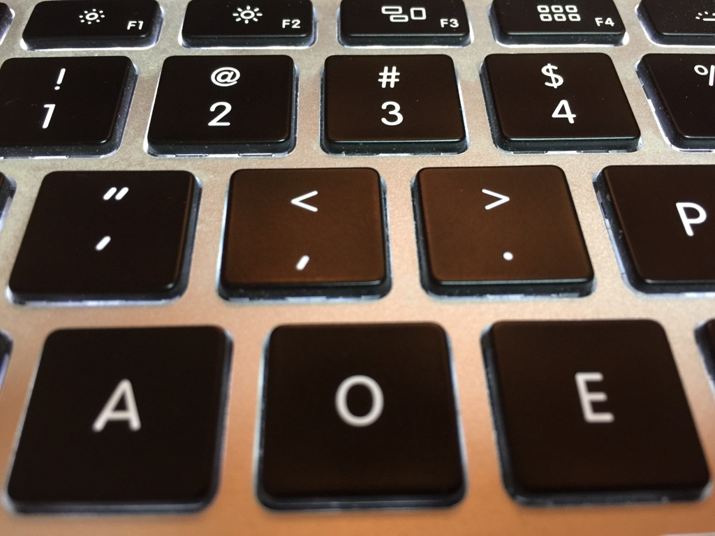 Macbook pro re-arranged qwerty keyboard
