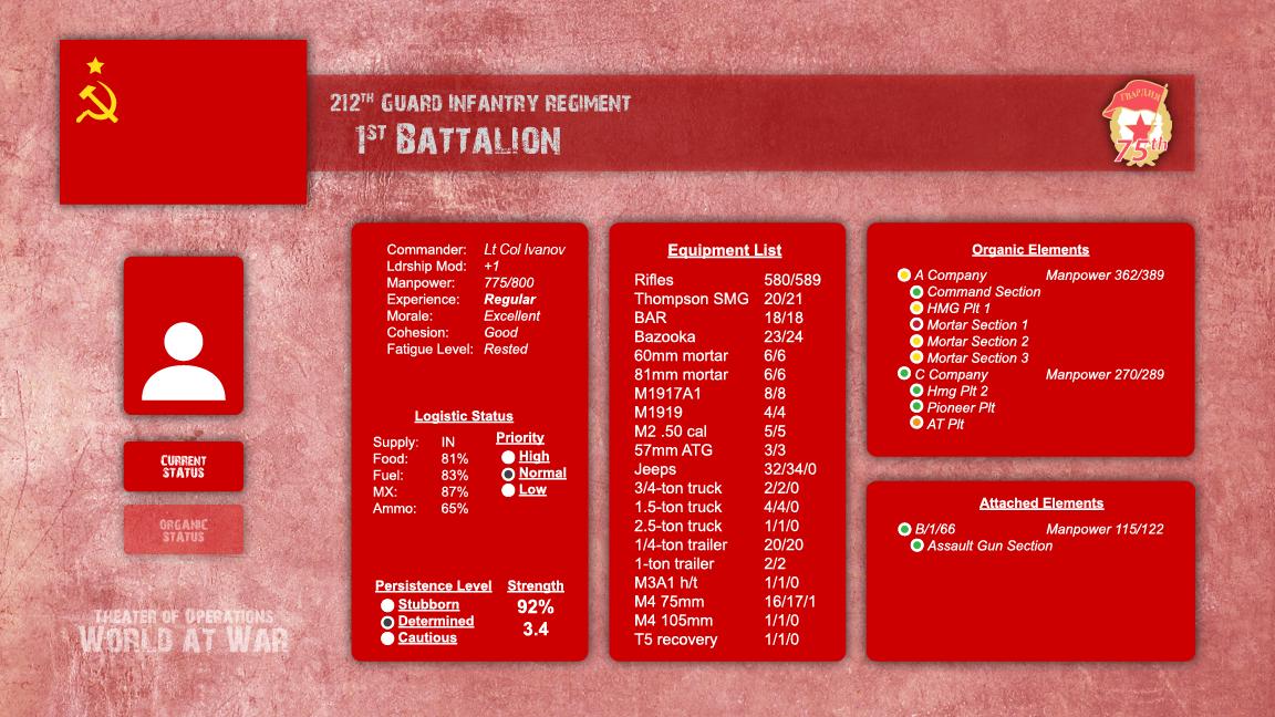 Soviet Battle Info Screen