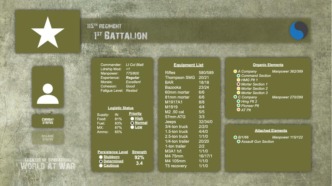 American Battle Info Screen