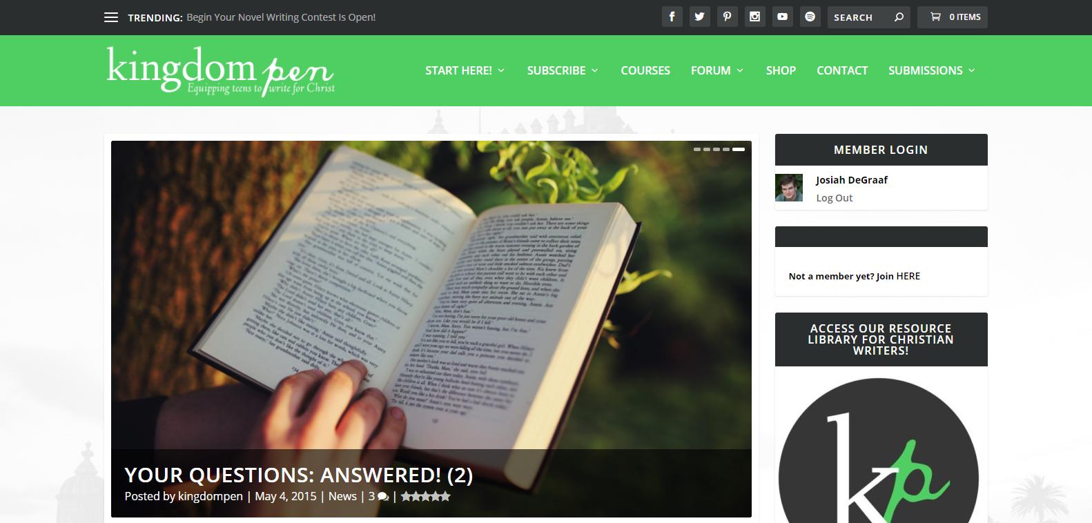 New KP Homepage