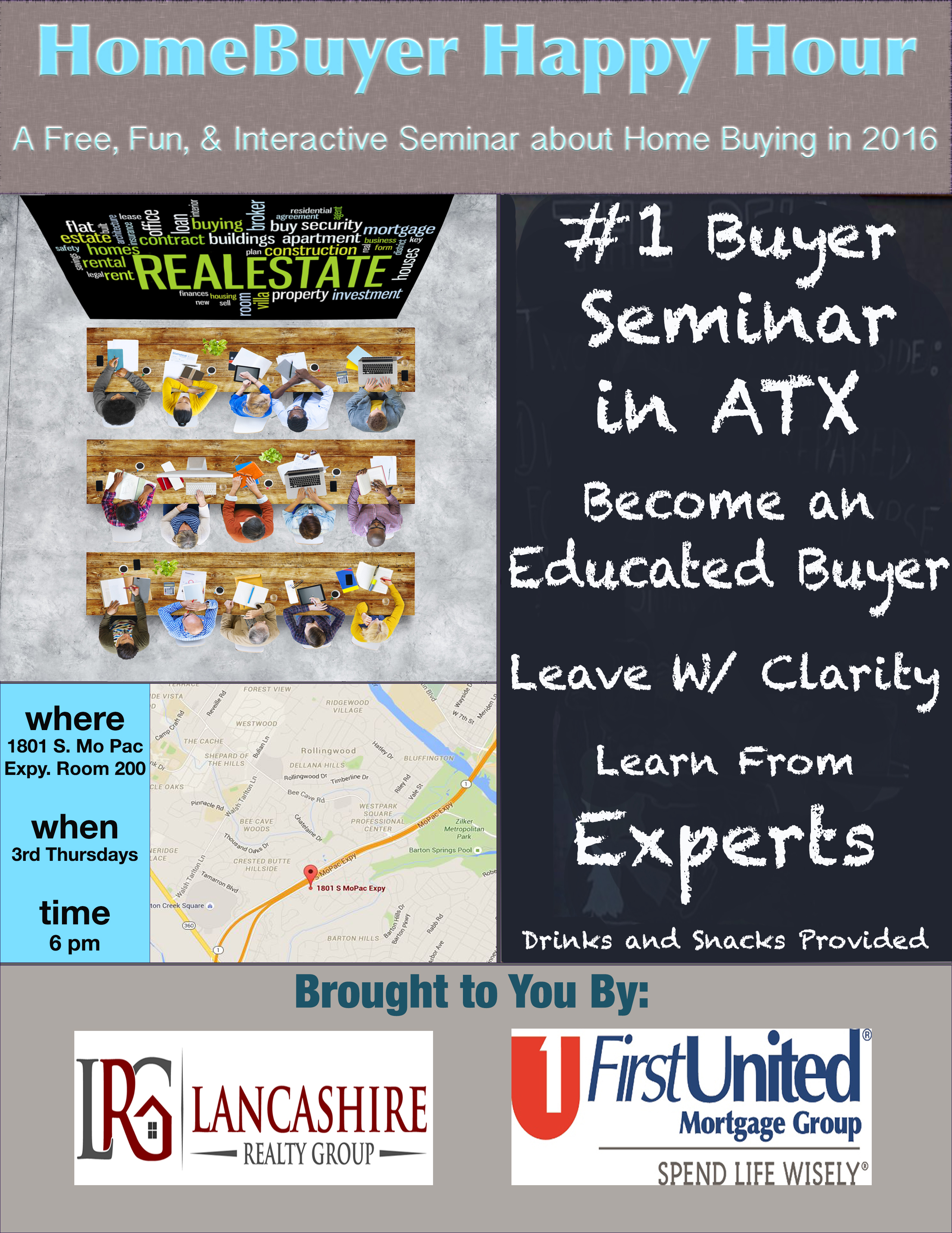 HomeBuyer Happer Hour. a Free fun and interactive seminar about home buying in 2016.