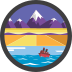 Coast to Coast Badge Icon