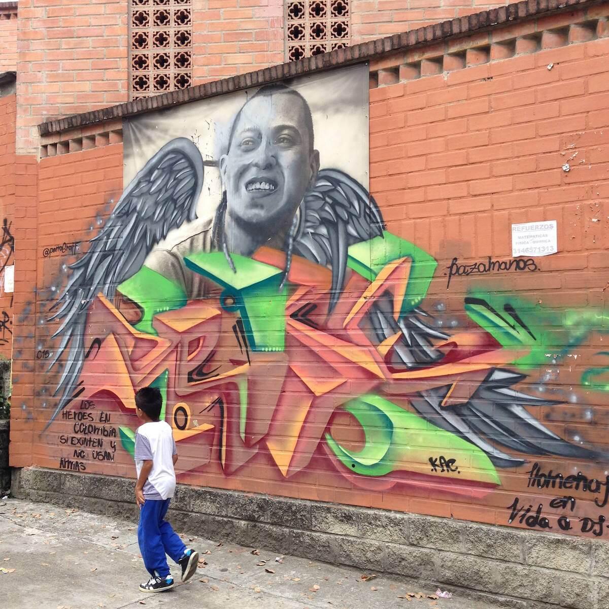 Medellin graffiti tour with Casa Kolacho