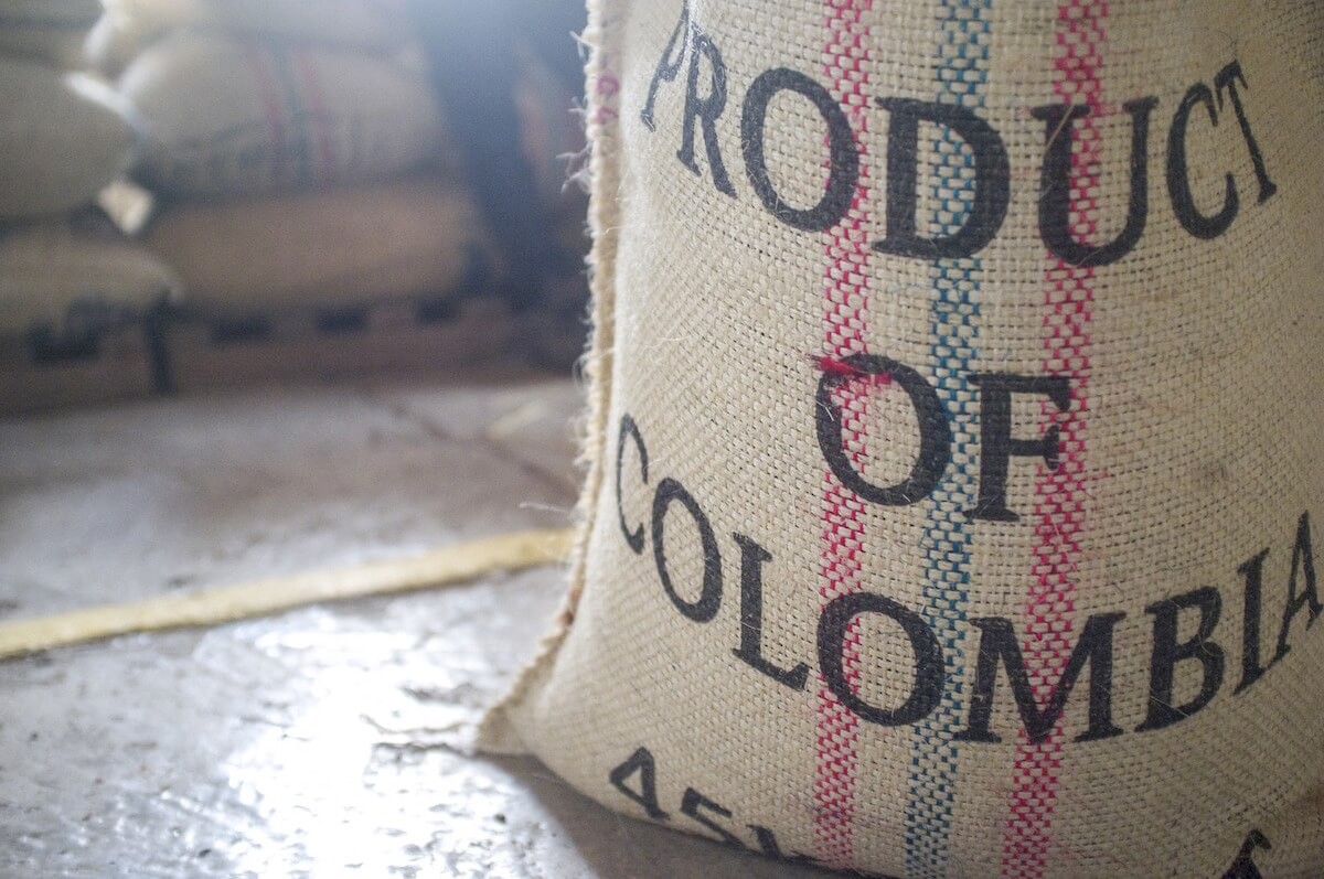 Product of Colombia coffee bag
