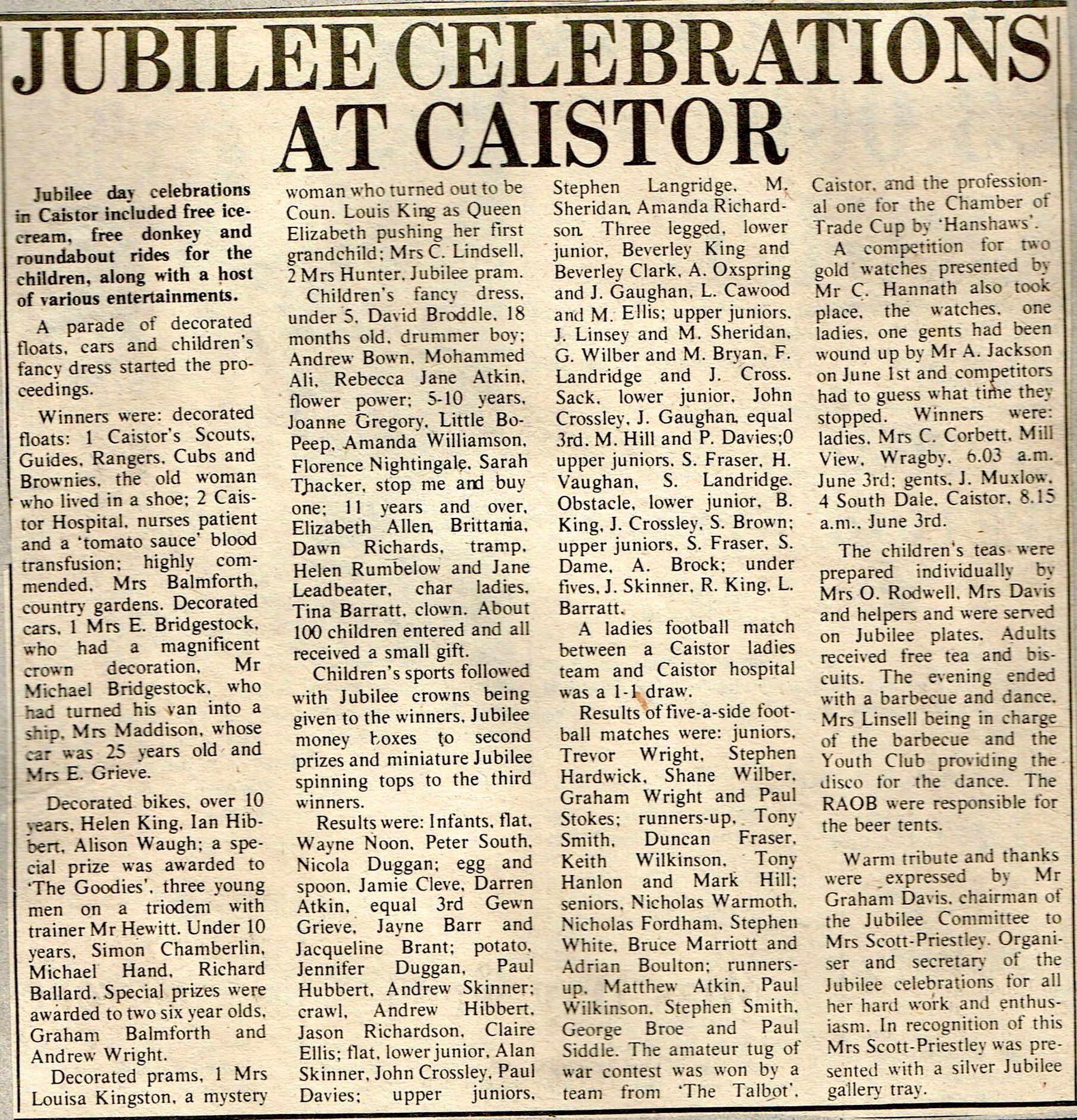 1977 June Jubilee Clipping.jpg