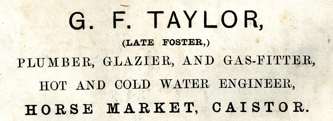 Advert 1897 g f taylor.jpg
