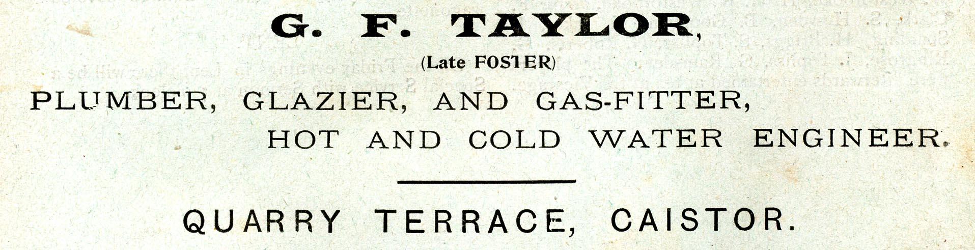 Advert 1904 G F Taylor.jpg
