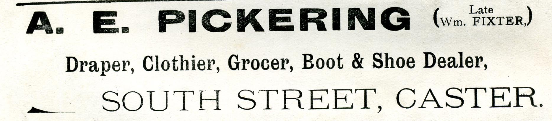 Advert 1911 A E Pickering.jpg