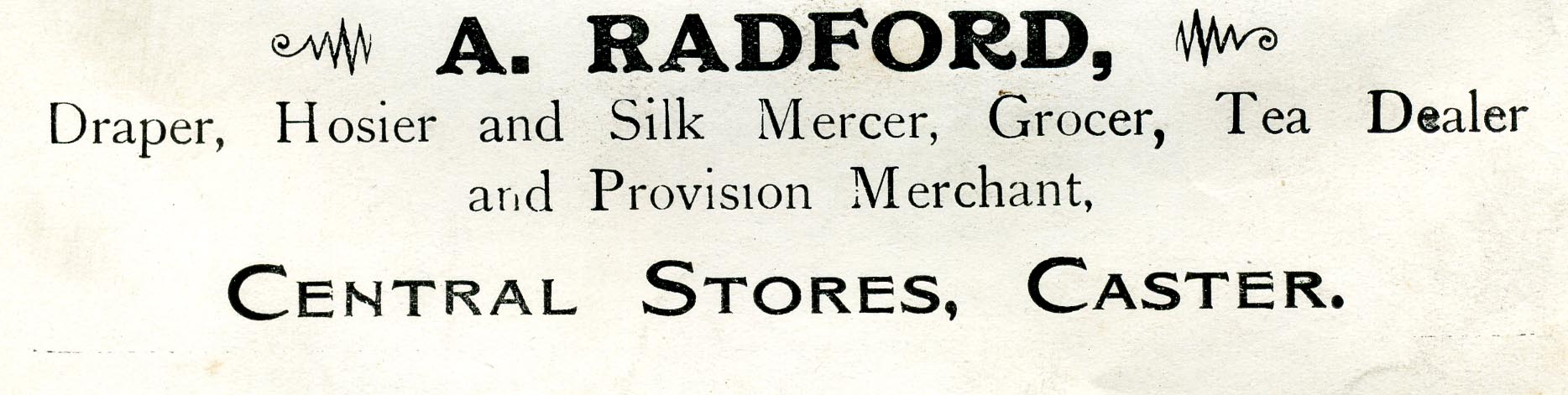 Advert 1911 A Radford.jpg