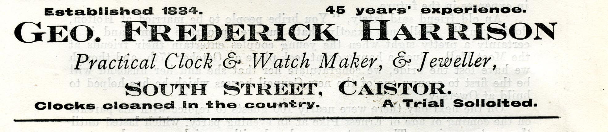 Advert 1917 approx Geo Fred Harrison.jpg