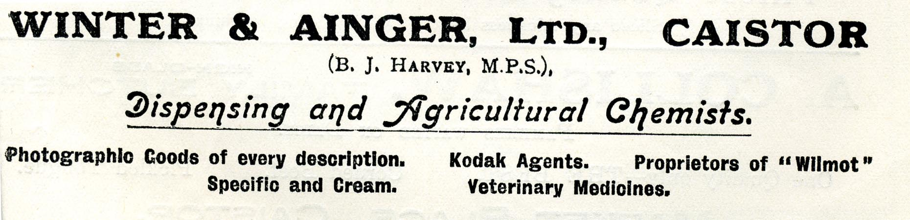 Advert 1933 Winter&Ainger.jpg