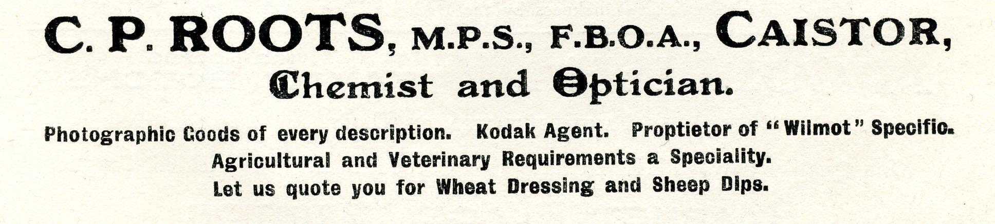 Advert 1934 C P Roots.jpg