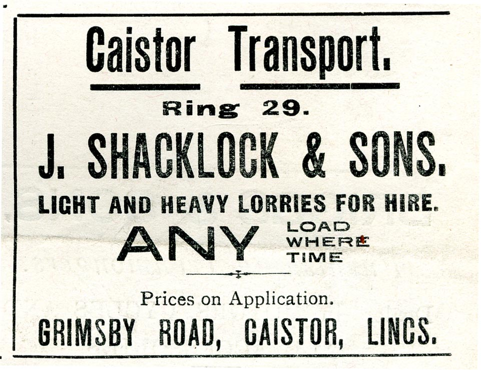 Advert 1934 J Shacklock.jpg