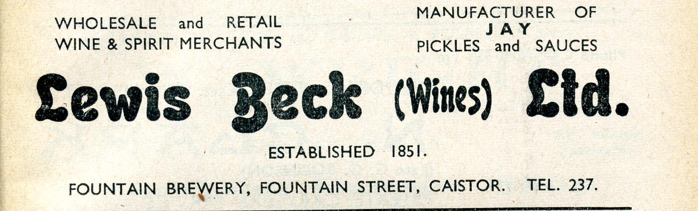 Advert 1955 Lewis and Beck.jpg