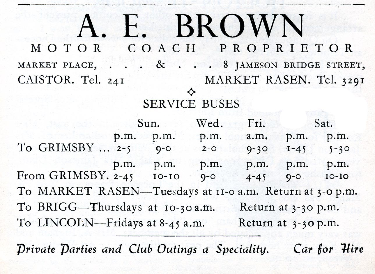 Advert 1957 A E Brown.jpg