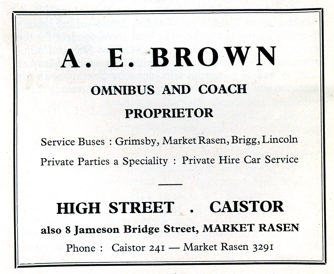 Advert 1960 A E Brown.jpg