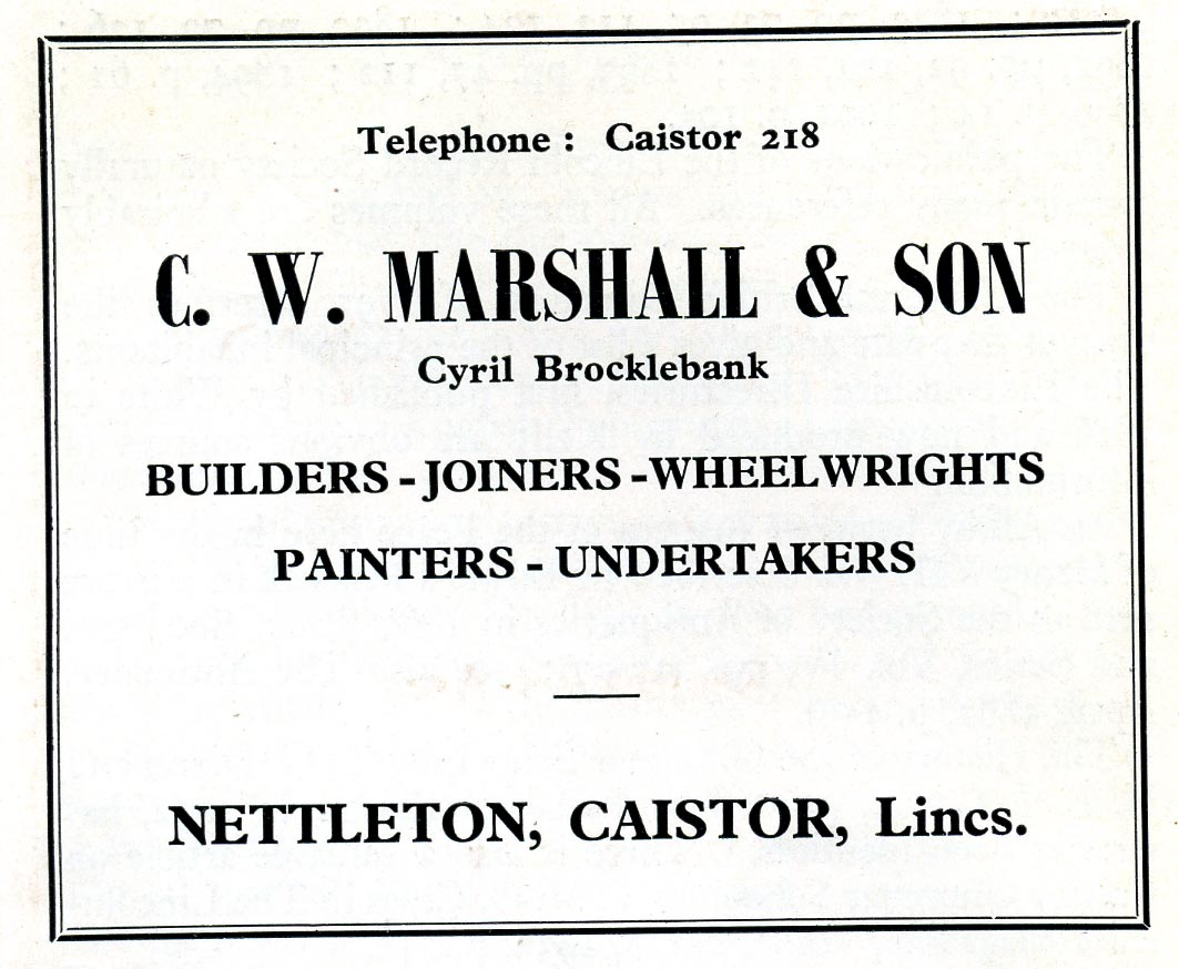 Advert 1960 C W Marshall.jpg