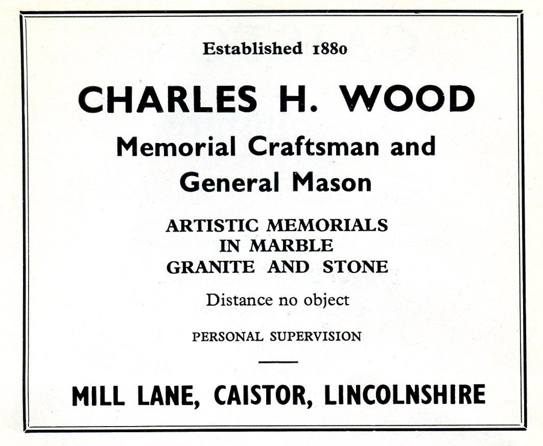 Advert 1960 Charles H Wood.jpg