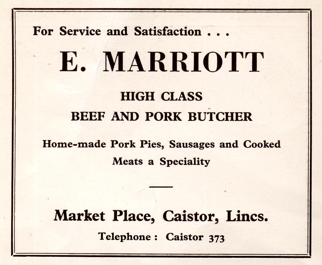 Advert 1960 E Marriott.jpg