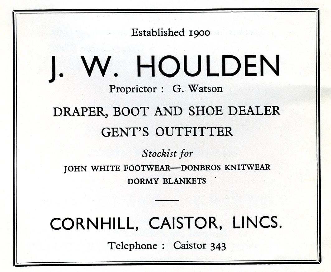 Advert 1960 J W Houlden.jpg