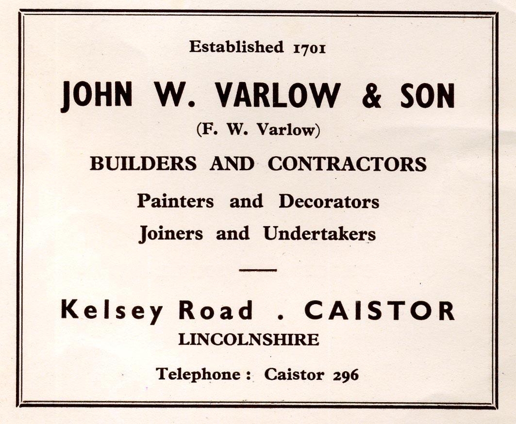 Advert 1960 John W Varlow.jpg