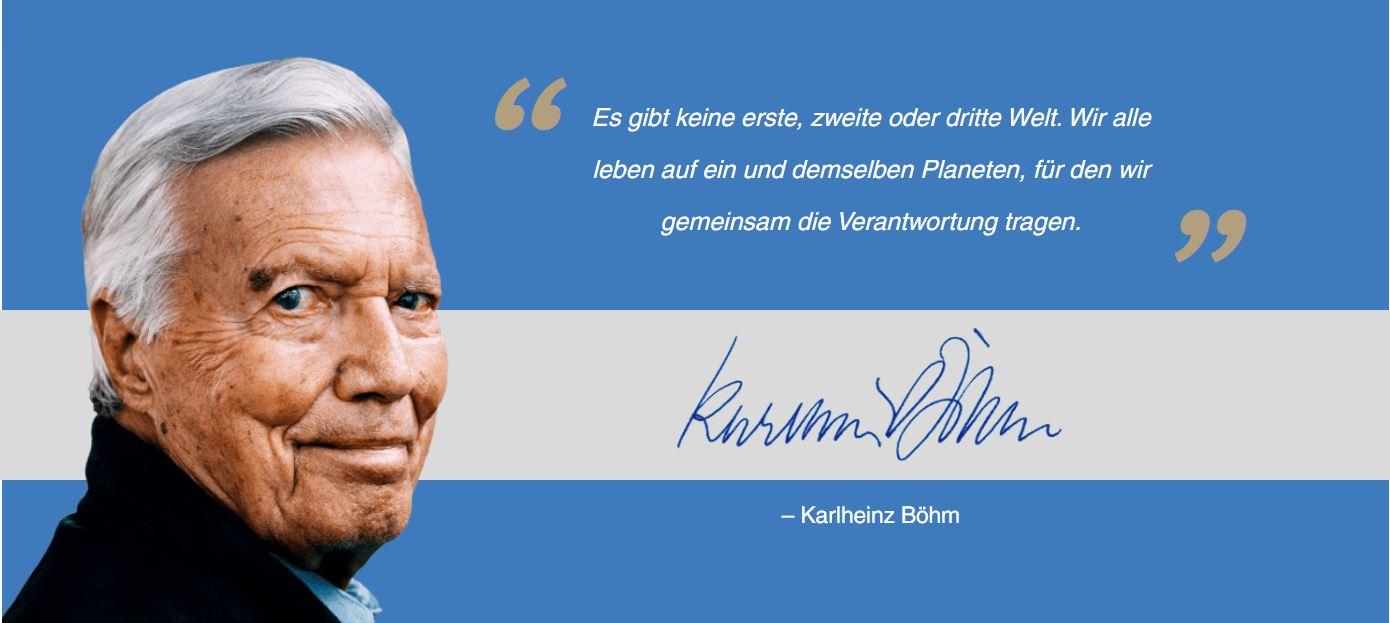 """Statement von Karlheinz Böhm, Gründer von """"Menschen für Menschen"""""""
