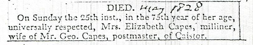 1828 Death Elizabethn Capes.jpg
