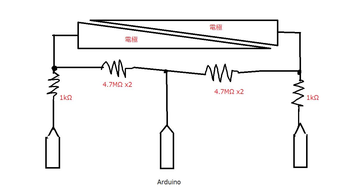 Arduinoで静電容量センサを自作してみる
