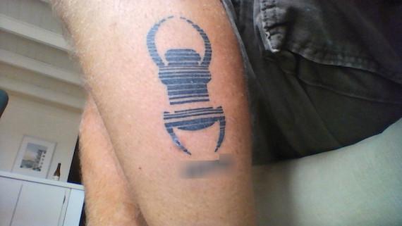 Trackable tattoo