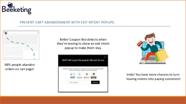 exit intent email pop-ups