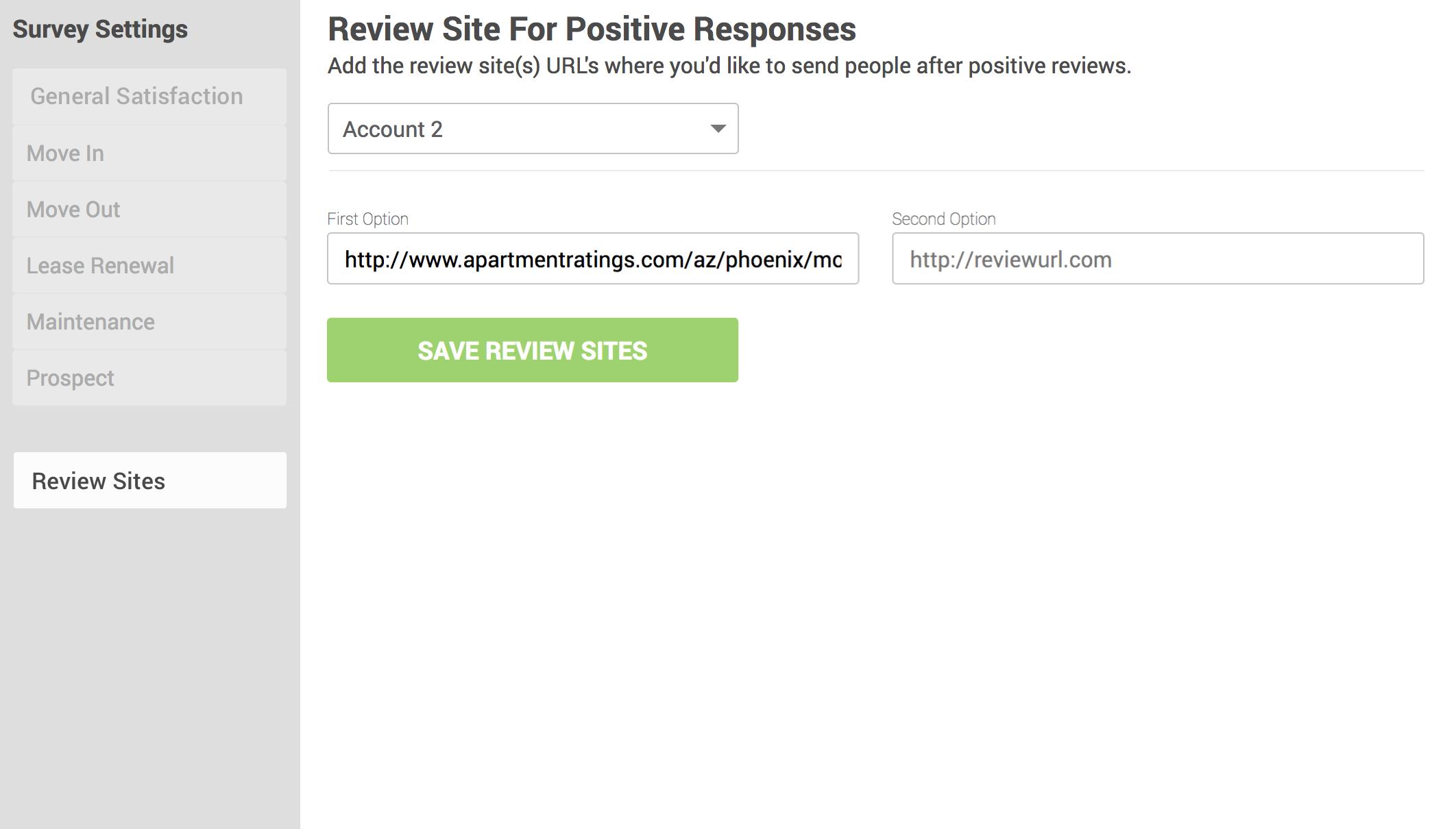 Reviews Site Editing