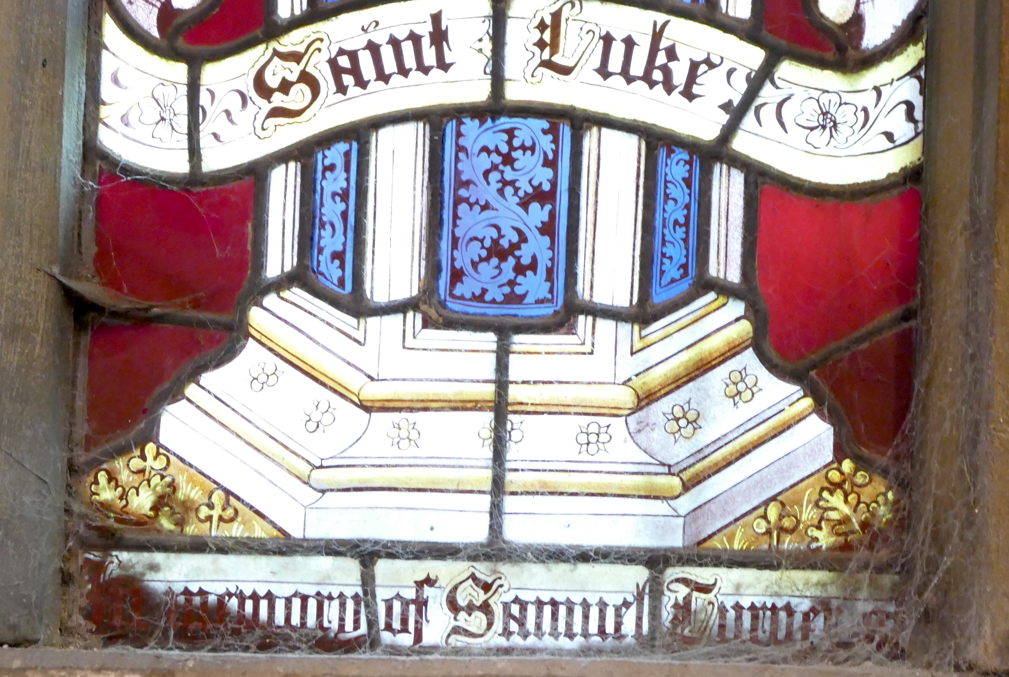 Saint Luke Left Script.JPG
