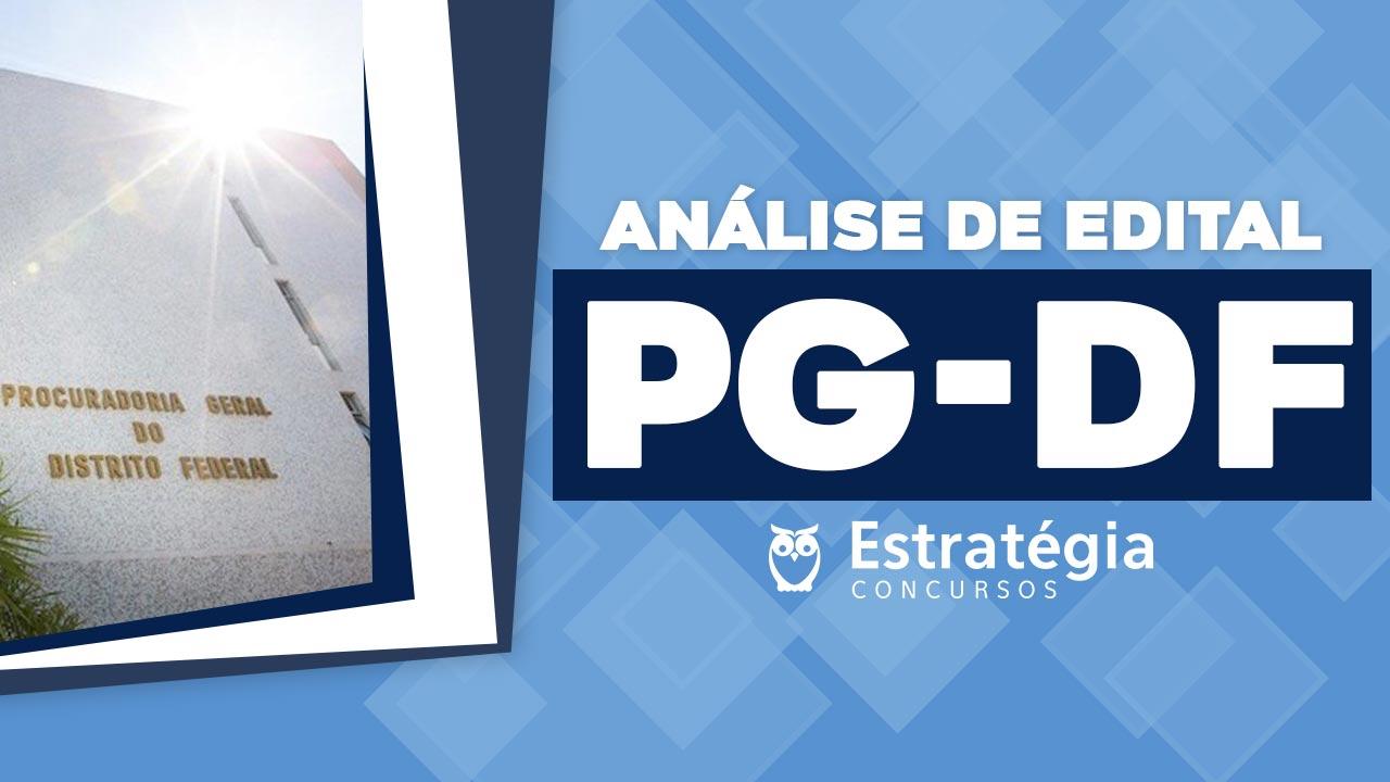 Análise de Edital PG-DF (Servidores)