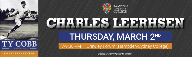 "Charles Leerhsen: Author of ""Ty Cobb: A Terrible Beauty"" Visits H-SC @ Crawley Forum 