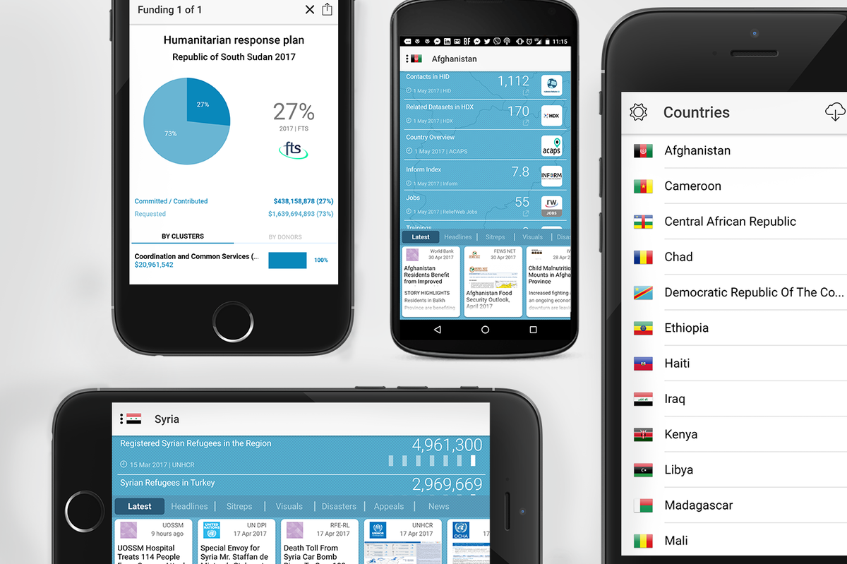 The new RW Crises app features comprehensive country coverage, offline use, and more!