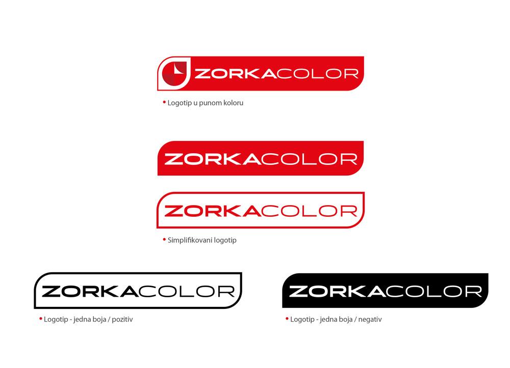 zorka color logo varijacije