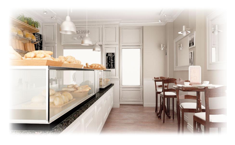 bread&co enterijer