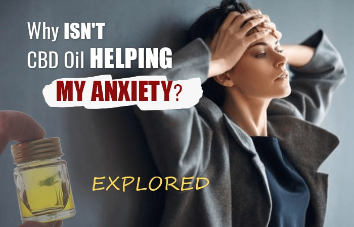 Why isn't CBD Oil Helping My Anxiety? [EXPLORED]
